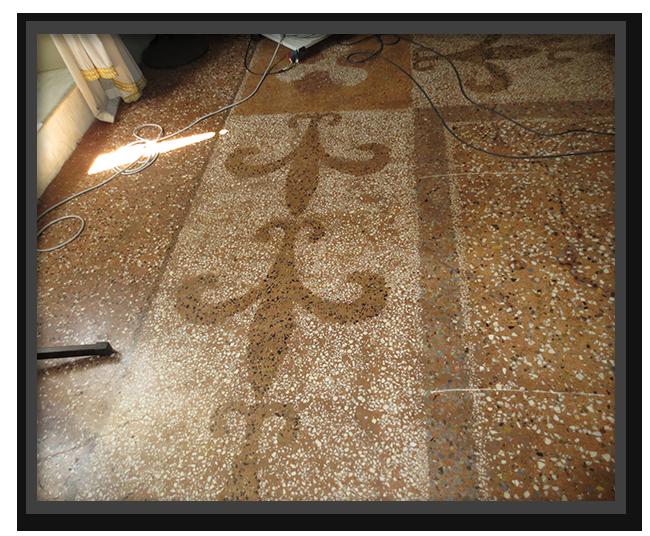 Realizzazione terrazzo alla veneziana e mosaici asin for Veneziana pavimento