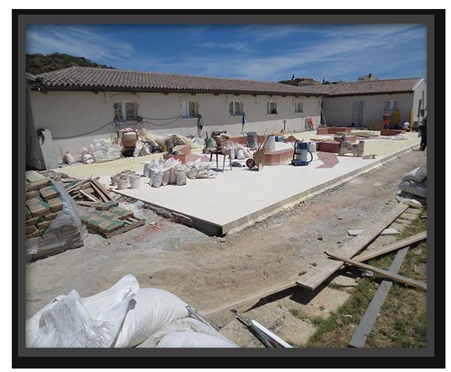 Pavimento Museo Garibaldi Caprera - lavorazione