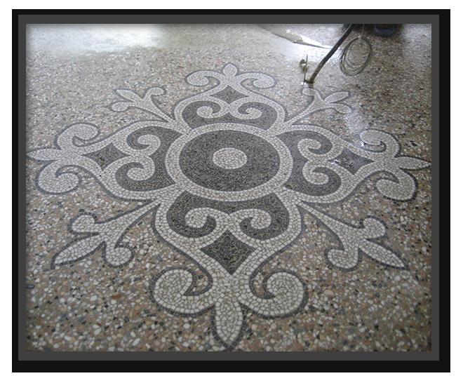 Pavimenti alla veneziana in villa privata a Parma - mosaico 4