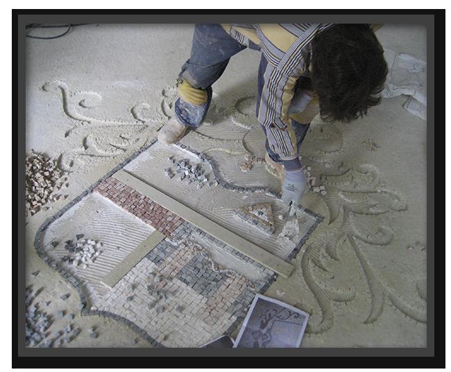 Pavimenti alla veneziana in villa privata a Parma - mosaico 3