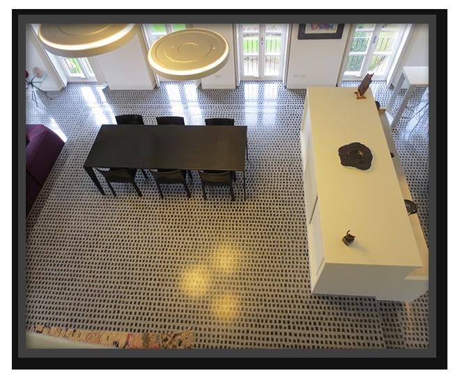 Pavimenti a tesserine in villa privata a Torino 2