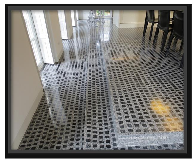 Pavimenti a tesserine in villa privata a Torino 1