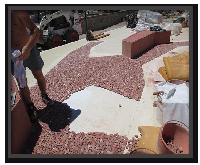 Pavimento Museo Garibaldi Caprera - posa materiale