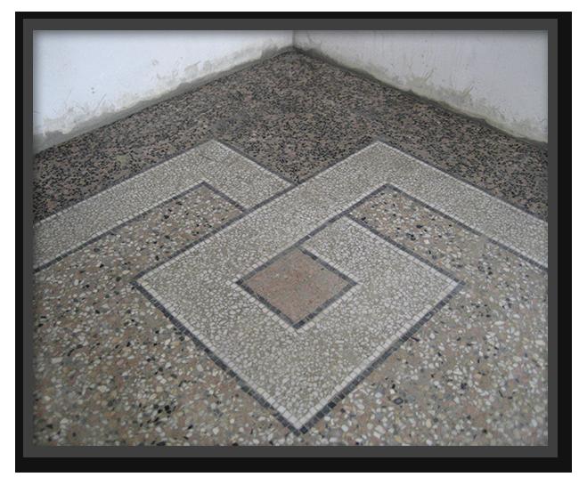 Pavimenti alla veneziana in villa privata a Parma