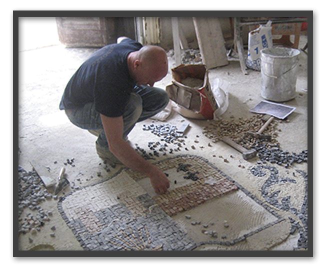 Pavimenti alla veneziana in villa privata a Parma - mosaico 2